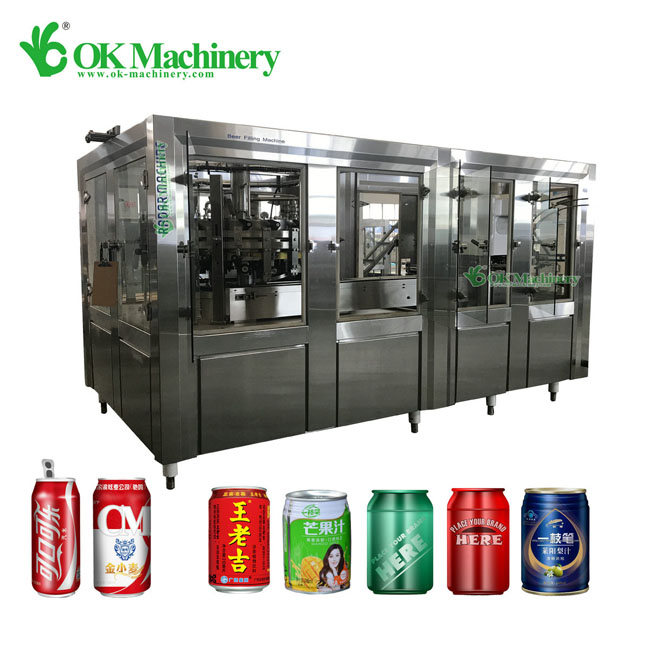 12-1 small can filling machine manufacturers 1500-2000 cans/hour